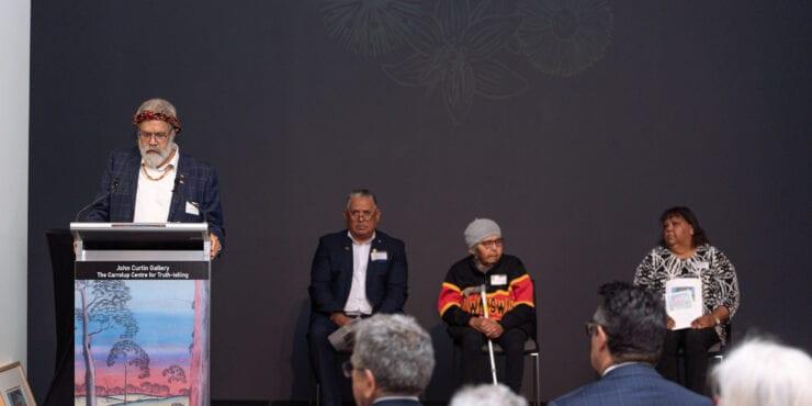 Professor Simon Forrest speaks at the Carrolup Centre Establishment Ceremony