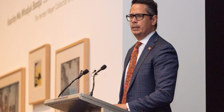 Minister Ben Wyatt MLA at the Carrolup Centre Establishment Ceremony