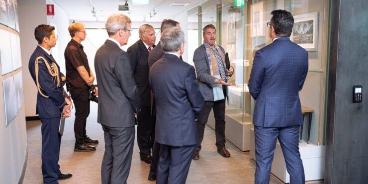 Gallery tour at the Carrolup Centre Establishment Ceremony