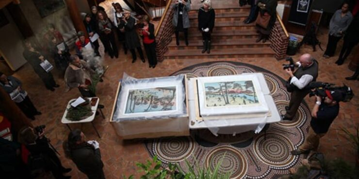 In 2013, the artworks finally came home to Country.