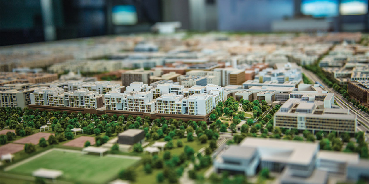 A close up of an architecture model