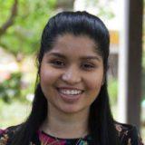 Curtin student, Senaida D'Souza looking at camera and smiling