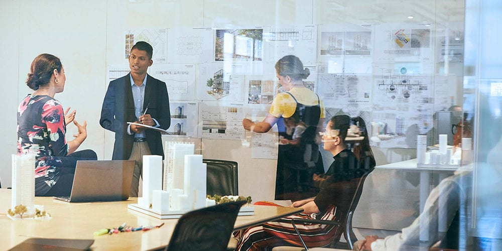 Curtin University architecture student in workplace learning environment