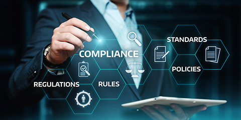 Compliance Rules Law Regulation Policy Business Technology concept.