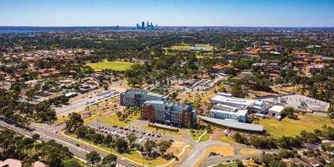 Aerial shot of the Perth Curtin campus