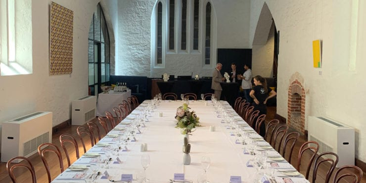 Formal long table at 139 St Georges Terrace