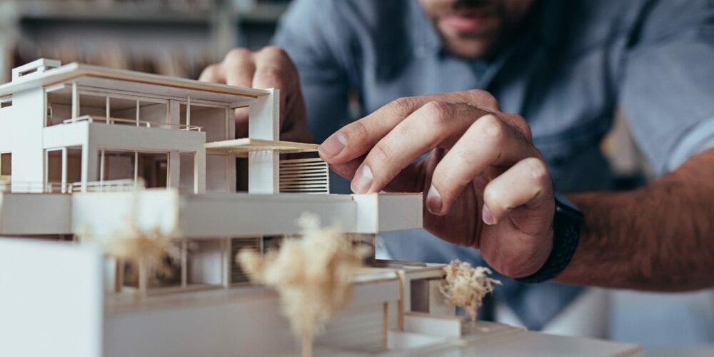architecture student building 3D design model